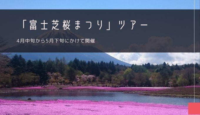 「富士芝桜まつり」おすすめバスツアー特集!